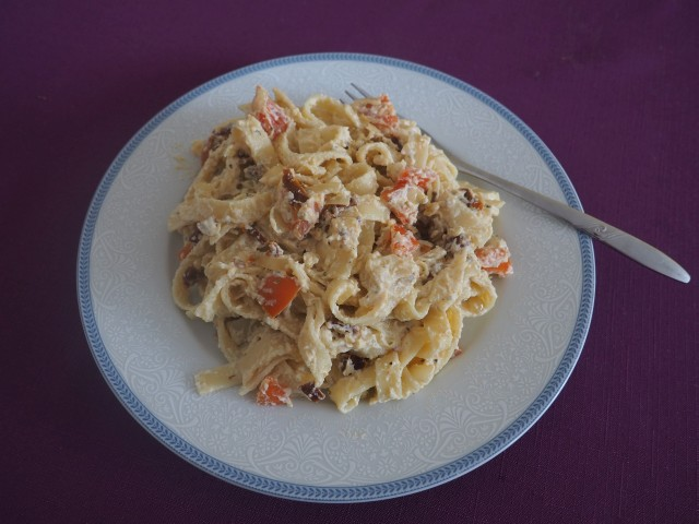Těstoviny a ricotta představují rychlou a chutnou večeři.