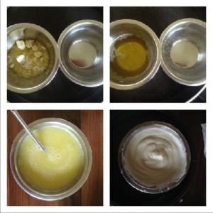 Tělový krém s meduňkou - postup
